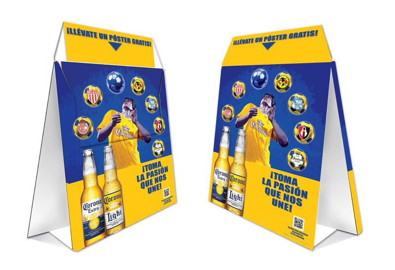 Corona Soccer Poster Holder